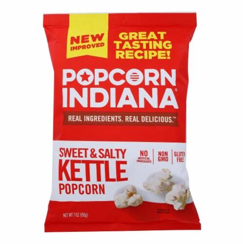 Popcorn Indiana Popcorn - Original Kettlecorn - Case of 12 - 7 oz. Perspective: front