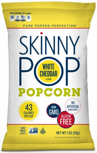 Skinnypop White Cheddar Popcorn, 1 Ounce -- 6 per case. Perspective: front
