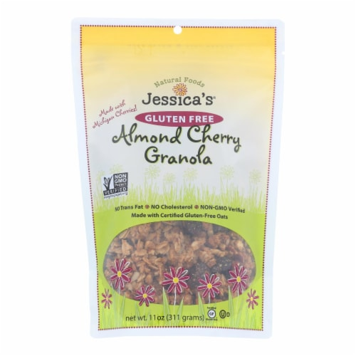 Jessica's Gluten-Free Almond Cherry Granola  - Case of 12 - 11 OZ Perspective: front