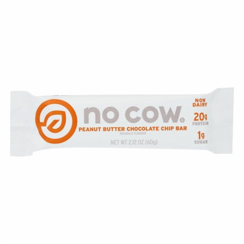 No Cow Bar Protein Bar - Case of 12 - 2.12 OZ Perspective: front