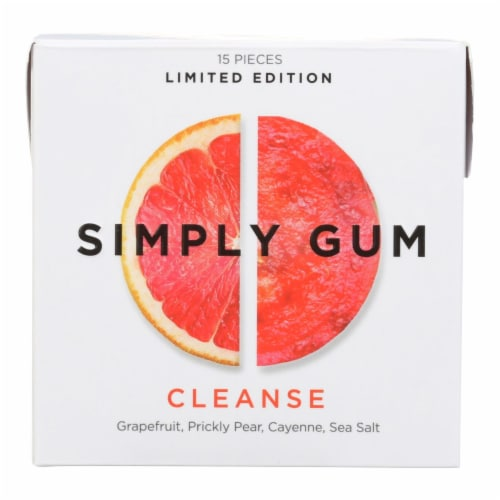 Simply Gum - Gum Cleanse - Case of 12 - 15 CT Perspective: front