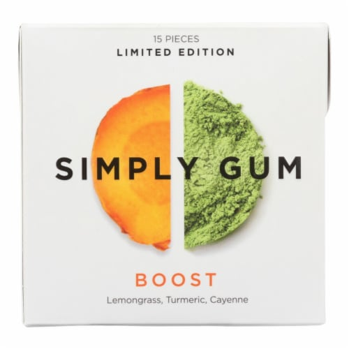 Simply Gum - Gum Boost - Case of 12 - 15 CT Perspective: front