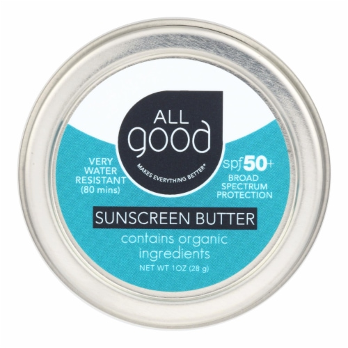 All Good - Snscrn Butter Spf 50+ Tin - Case of 12-1 OZ Perspective: front