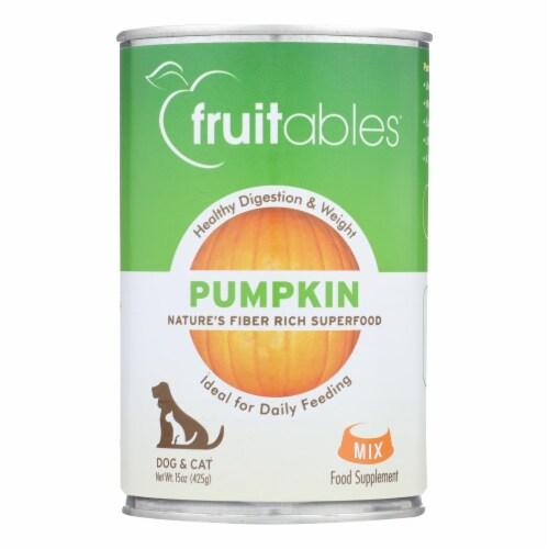 Fruitables - Pet Puree Pumpkin Can - Case of 12 - 15 OZ Perspective: front