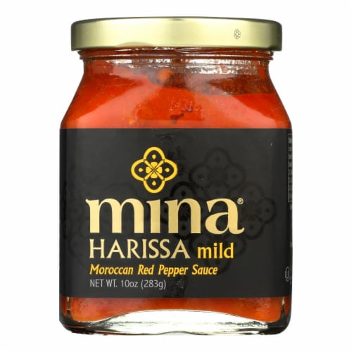 Mina's Mild Harissa Sauce  - Case of 12 - 10 FZ Perspective: front