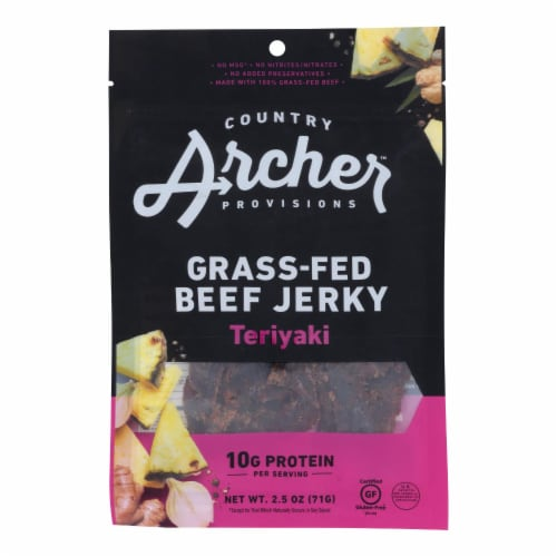 Country Archer - Jerky Beef Teriyaki - Case of 12-2.5 OZ Perspective: front