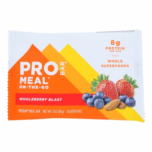 Probar Organic Whole Berry Blast Bar - Case of 12 - 3 oz Perspective: front