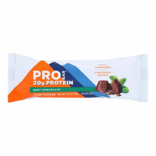 Probar Organic Mint Chocolate Core Bar - Case of 12 - 2.46 oz Perspective: front
