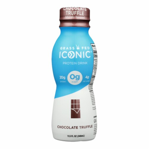 Iconic Protein Shake - Chocolate Truffle - Case of 12 - 11.5 Fl oz. Perspective: front