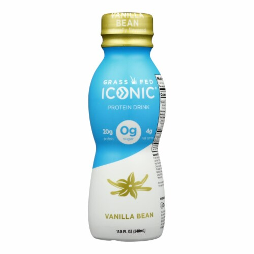 Iconic Protein Shake - Vanilla Bean - Case of 12 - 11.5 Fl oz. Perspective: front
