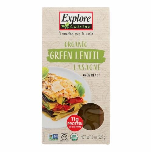 Explore Cuisine Organic Green Lentil Lasagna - Lasagna - Case of 12 - 8 oz. Perspective: front