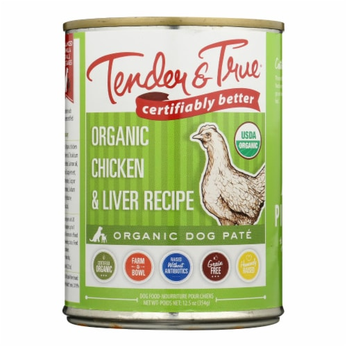 Tender & True Dog Food Chicken And Liver - Case of 12 - 12.5 OZ Perspective: front