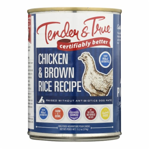 Tender & True Dog Food Chicken And Brown Rice - Case of 12 - 13.2 OZ Perspective: front