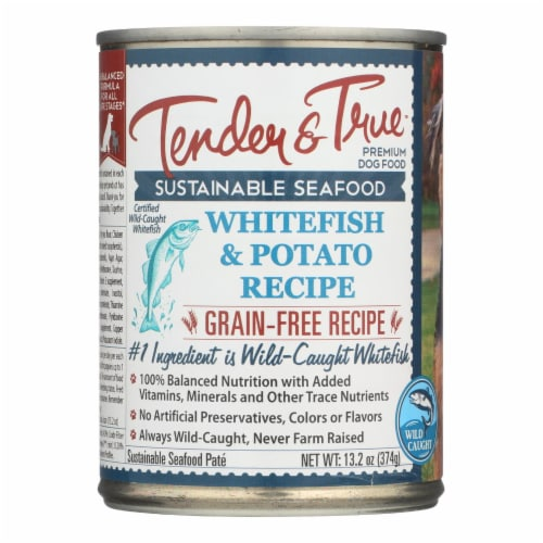 Tender & True Dog Food, Ocean Whitefish And Potato - Case of 12 - 13.2 OZ Perspective: front