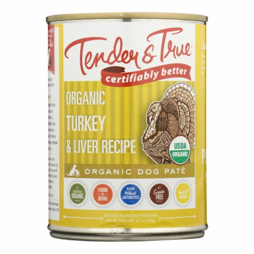 Tender & True Cat Food, Turkey And Liver - Case of 12 - 12.5 OZ Perspective: front