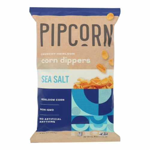 Pipcorn - Chps Corn Dippers Sea Salt - Case of 12 - 9.25 OZ Perspective: front