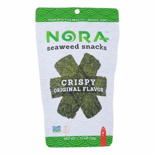 Nora Snacks Seaweed Snacks Crispy Original - Case of 12 - 1.13 OZ Perspective: front