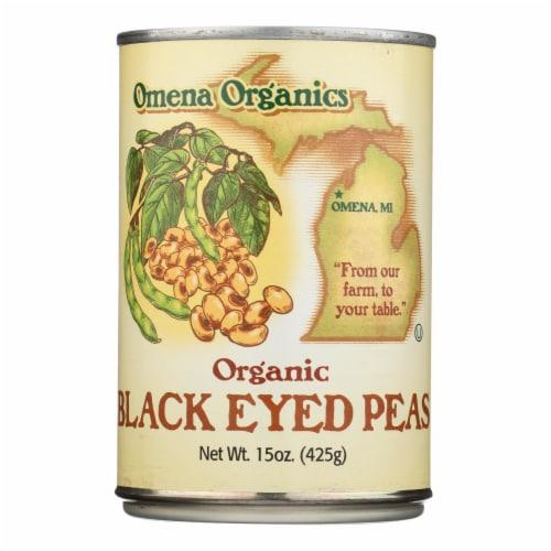 Omena Organics - Peas Black Eyed - Case of 12 - 15 OZ Perspective: front