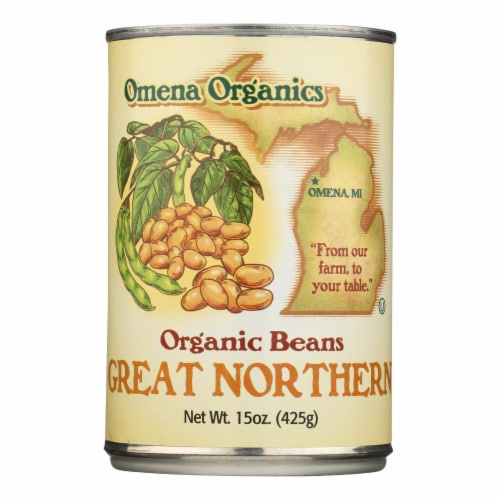 Omena Organics Great Northern Organic Beans Great Northern - Case of 12 - 15 OZ Perspective: front
