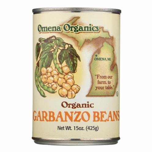 Omena Organics Organic Garbanzo Beans - Case of 12 - 15 OZ Perspective: front