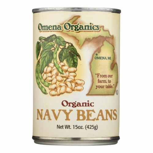 Omena Organics - Beans Navy - Case of 12 - 15 OZ Perspective: front