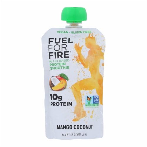 Fuel For Fire - Protn Smthie Fruit Mango Cnt - Case of 12 - 4.5 OZ Perspective: front