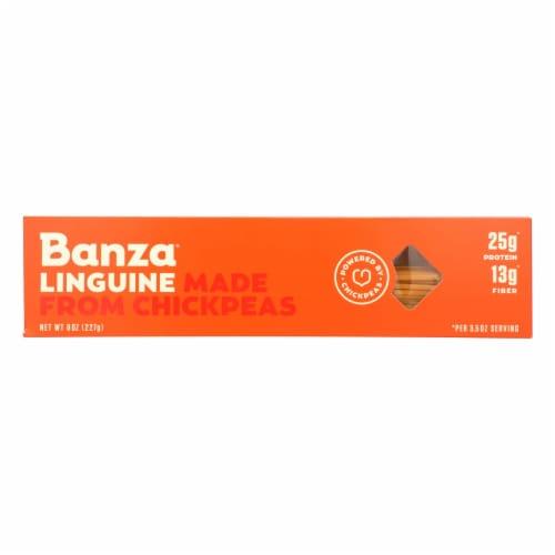 Banza - Chickpea Pasta - Linguine - Case of 12 - 8 oz. Perspective: front