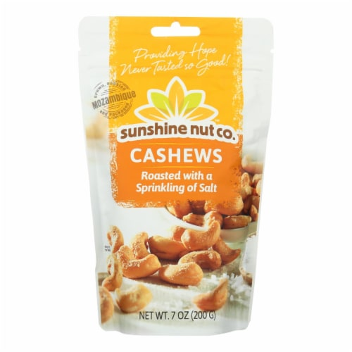 Sunshine Nut Company Cashews - Salted - Roasted - Case of 6 - 7 oz Perspective: front
