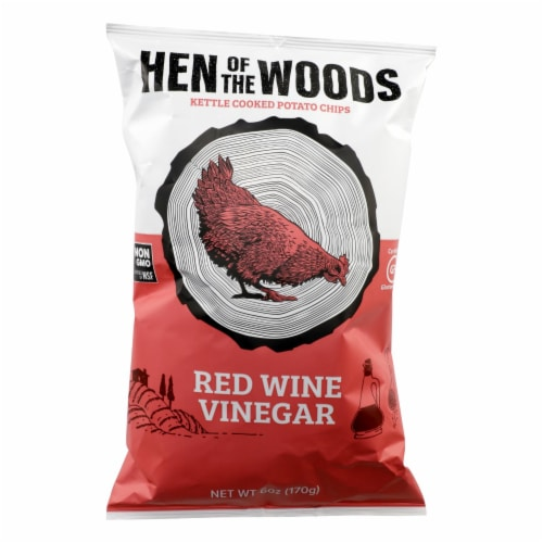 Hen Of The Woods - Chips Ketl Red Wine Ving - Case of 12-6 OZ Perspective: front