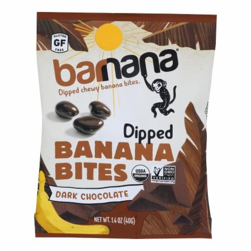 Barnana Organic Chewy Banana Bites - Chocolate - Case of 12 - 1.4 oz Perspective: front