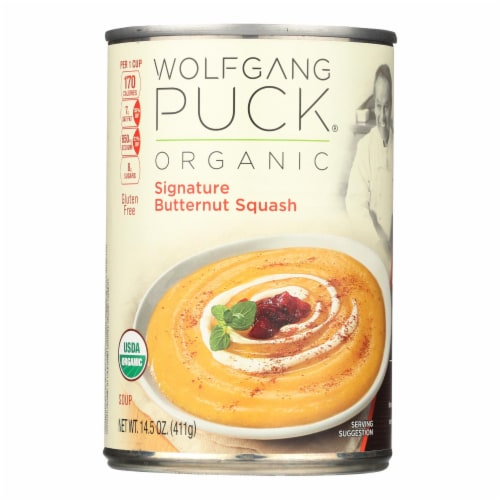 Wolfgang Puck Organic Soup - Signature Butternut Squash - Case of 12 - 14.5 oz. Perspective: front