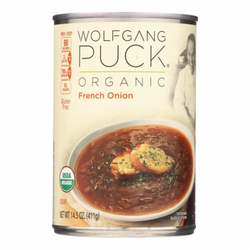 Wolfgang Puck French Onion Soup - Case of 12 - 14.5 oz. Perspective: front