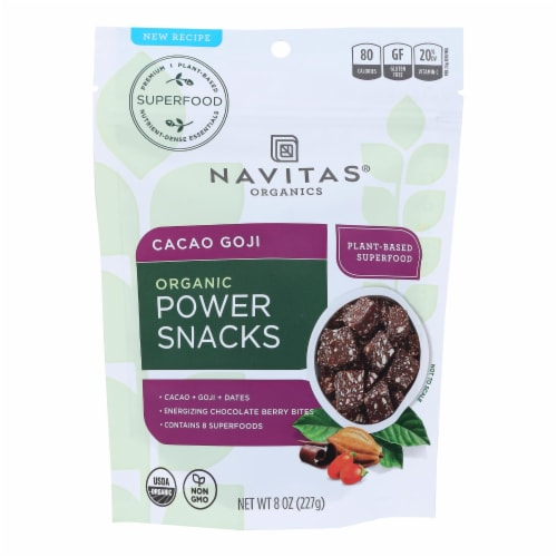 Navitas Naturals Snacks - Organic - Power - Cacao Goji - 8 oz - case of 12 Perspective: front