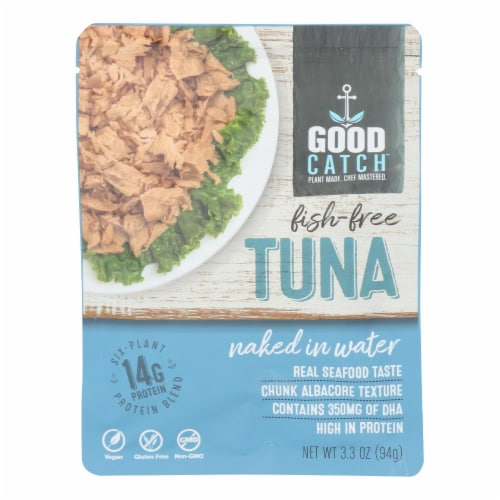 Good Catch - Fish Free Tuna Nkd In Water - Case of 12 - 3.3 OZ Perspective: front