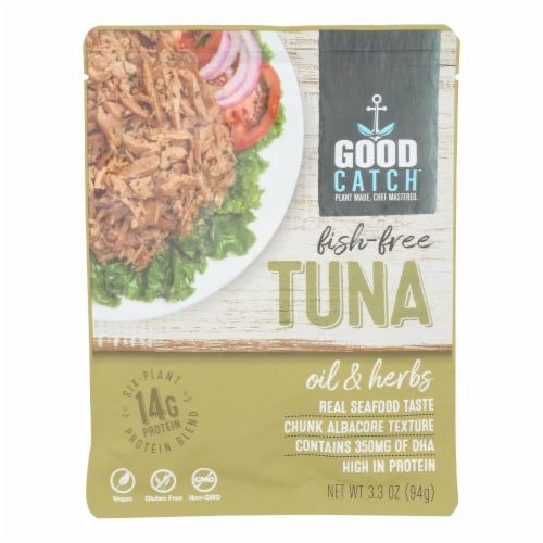 Good Catch - Fish Free Tuna Oil & Herb - Case of 12 - 3.3 OZ Perspective: front