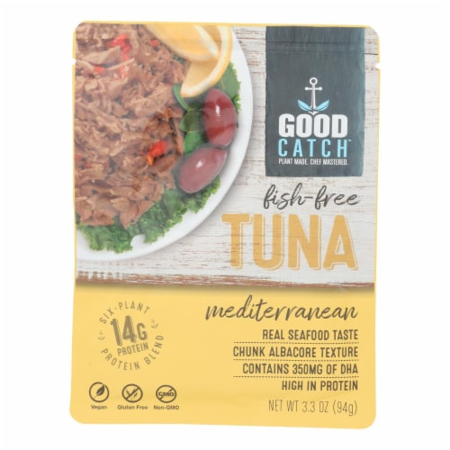 Good Catch - Fish Free Tuna Mediterran - Case of 12 - 3.3 OZ Perspective: front