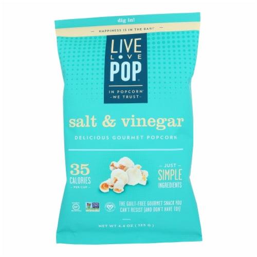 Live Love Pop - Popcorn Salt & Vinegar - Case of 12 - 4.4 OZ Perspective: front