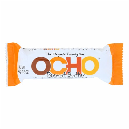 Ocho Candy - Candy Bar Peanut Butter - Case of 12-1.5 OZ Perspective: front