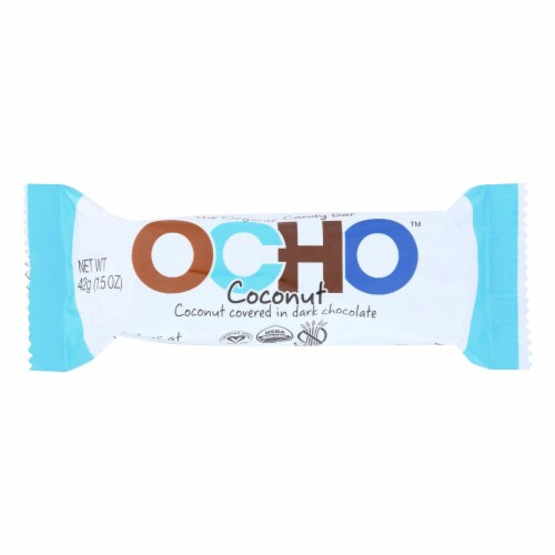 Ocho Candy - Candy Bar Coconut - Case of 12-1.5 OZ Perspective: front