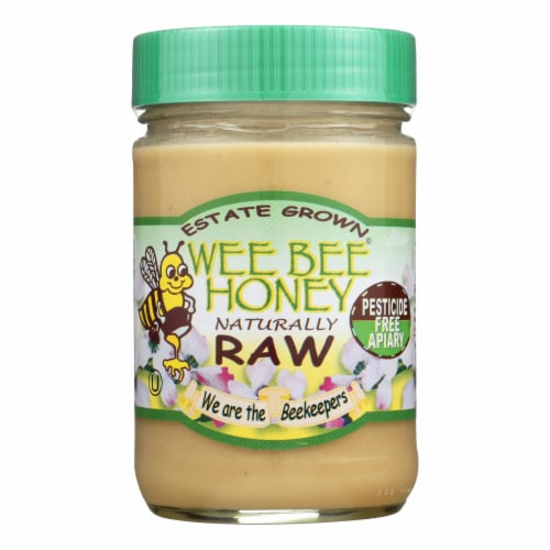 Wee Bee Honey Naturally Raw - Honey - Case of 12 - 16 oz. Perspective: front