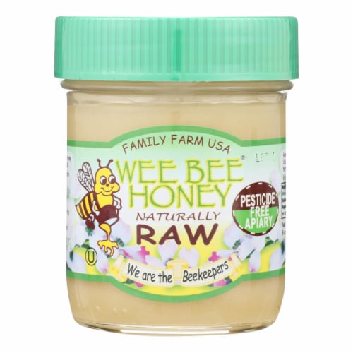Wee Bee Honey - Naturally Raw Honey - Case of 12 - 9 OZ Perspective: front