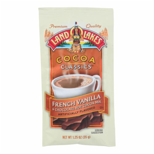 Land O Lakes Cocoa Classic Mix - French Vanilla and Chocolate - 1.25 oz - Case of 12 Perspective: front