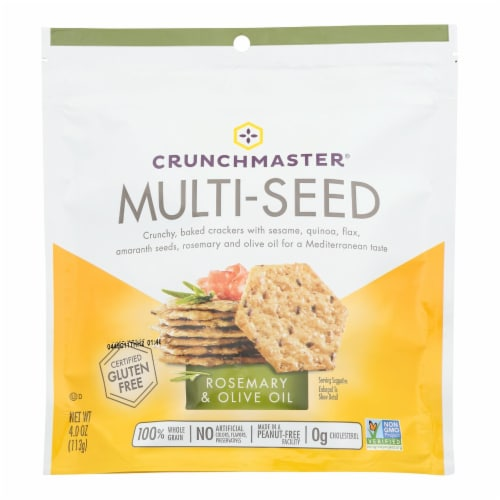 Crunchmaster - Multiseed Crckr Rsmry&olv - Case of 12 - 4 OZ Perspective: front