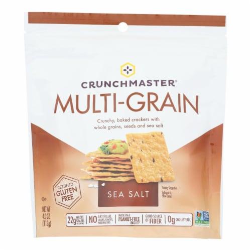 Crunchmaster - Multigrn Cracker Sea Salt - Case of 12 - 4 OZ Perspective: front