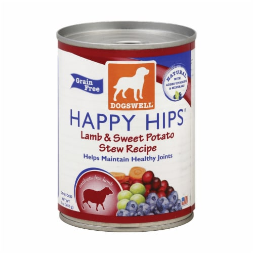 Dogs well Happy Hips Lamb and Sweet Potato Stew Dog Food - Case of 12 - 13 oz. Perspective: front