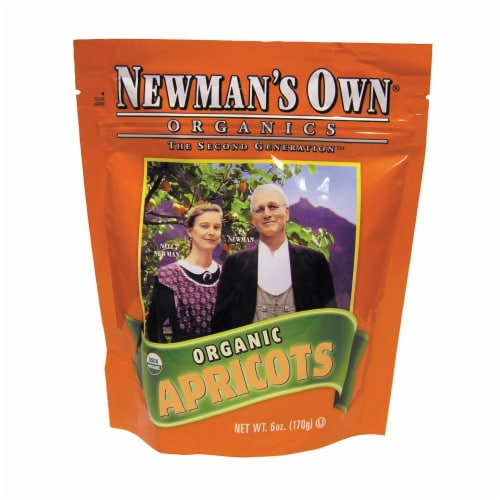 Newman's Own Organics Dried Apricots - Organic - Case of 12 - 6 oz. Perspective: front