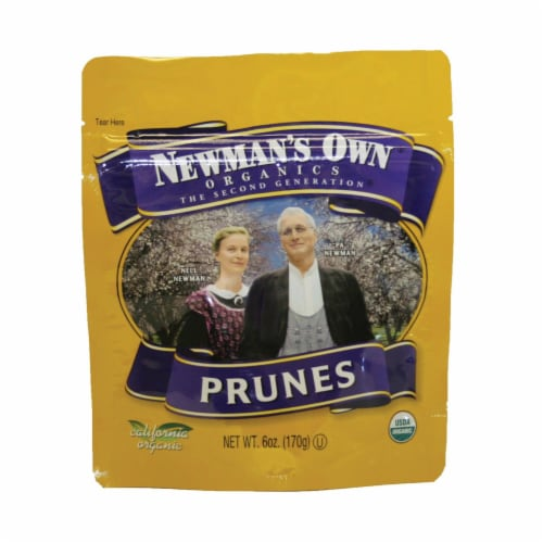 Newman's Own Organics Pitted Prunes - Organic - Case of 12 - 6 oz. Perspective: front