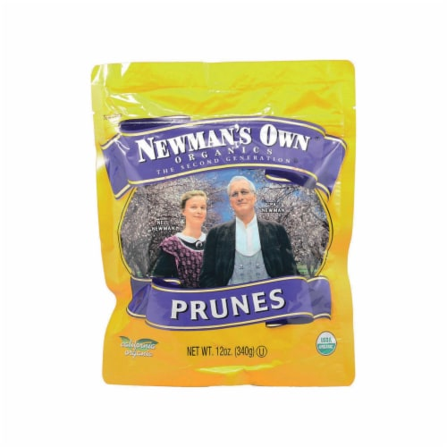 Newman's Own Organics Organic Pitted - Prunes - Case of 12 - 12 oz. Perspective: front