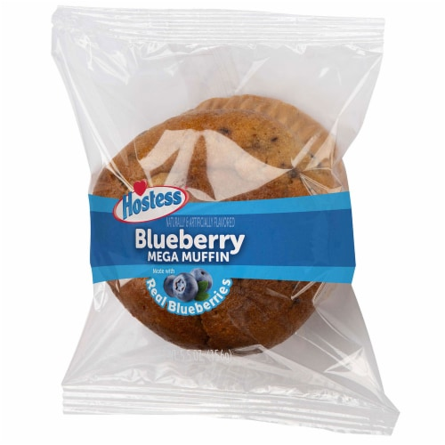 Hostess Blueberry Jumbo Muffin, 5.5 Ounce -- 36 per case. Perspective: front