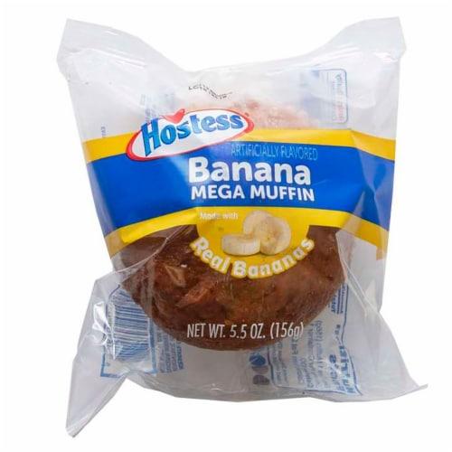 Hostess Banana Jumbo Mega Muffin, 5.5 Ounce -- 36 per case. Perspective: front